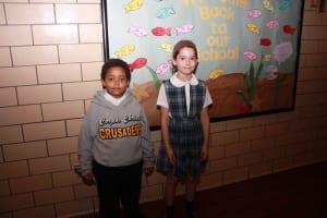 Kindergartner Daniel Burger, Second grader Emily Ross